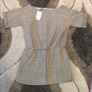 NWT Zara basic • geometric black and cream dress